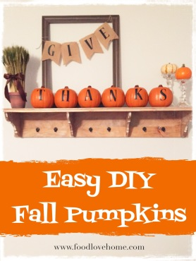 Easy DIY Fall Pumpkins